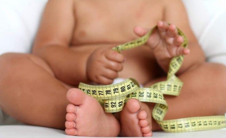 Als een mollige baby overgewicht heeft