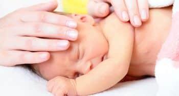 Fysieke ongemakken baby na zware bevalling