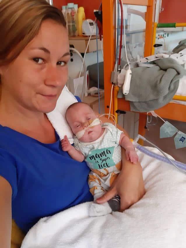 Mace te vroeg geboren met 25 weken
