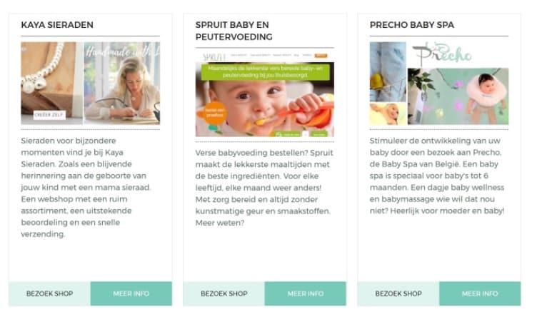 adverteren zwangerschap website