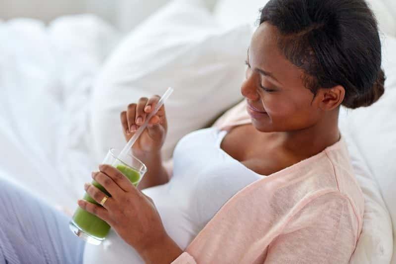 afvallen en fitter voelen na bevalling met sapjes