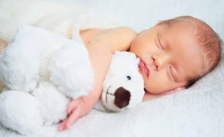 baby 7 weken oud zicht