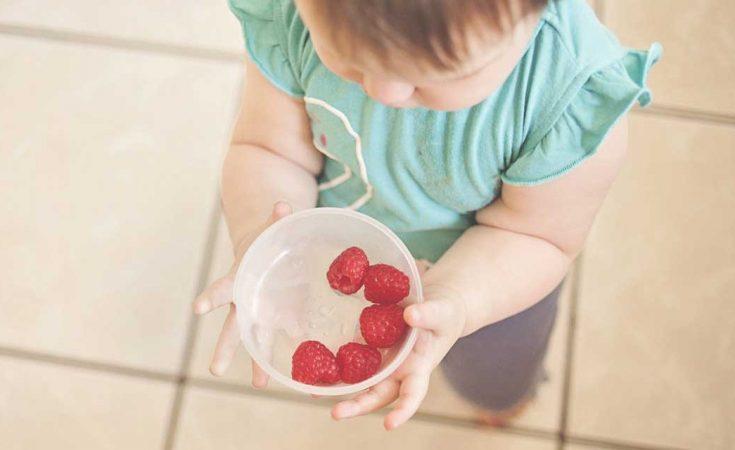 baby eet weinig groente en fruit