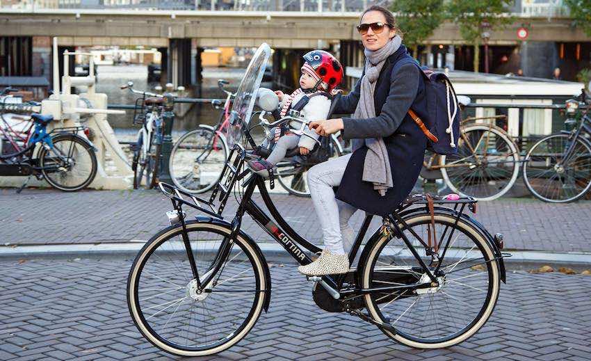 baby veilig vervoeren op de fiets