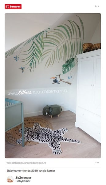 babykamer trends jungle dieren