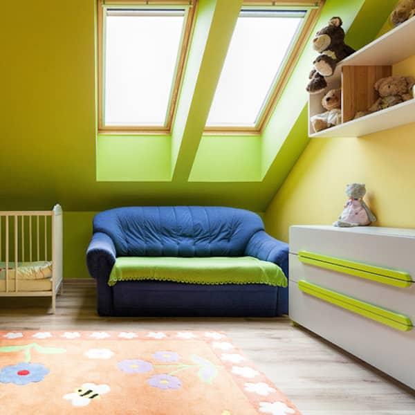 babykamer zolder verbouwen