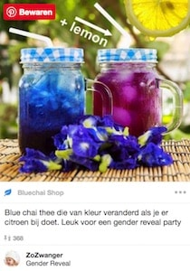 blue Chai thee gender reveal