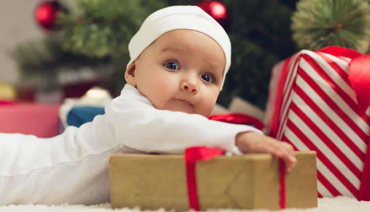 eerste kerst met een baby