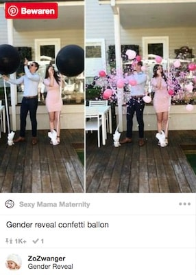 gender reveal confetti ballon