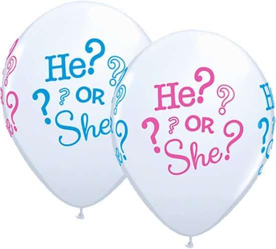 gender reveal feest ballon