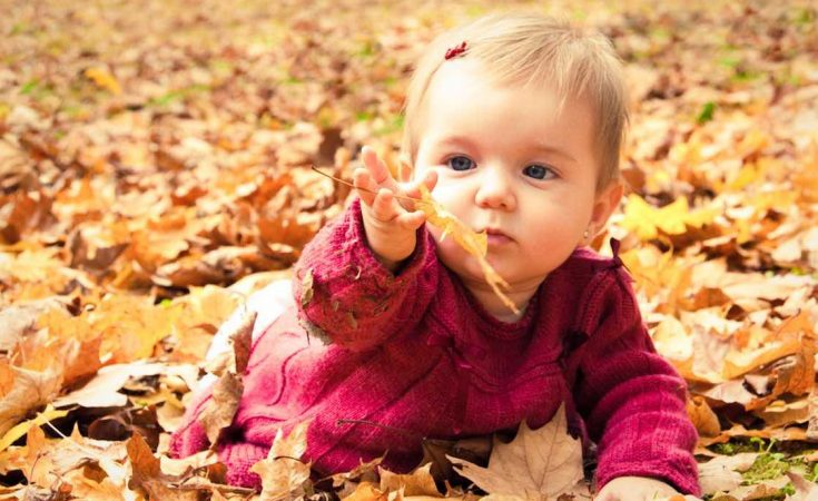 hoe een baby aankleden in de herfst