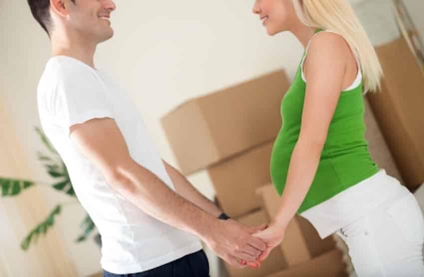 hoogzwanger verhuizen