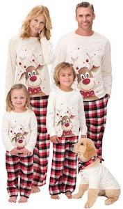kerst pyama gezin