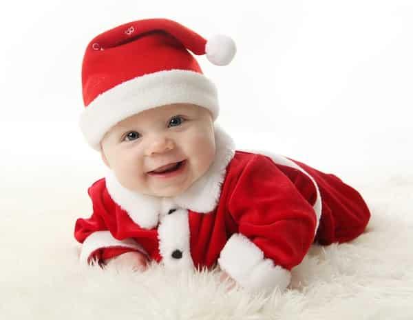 kerstpakje voor de baby of newborn