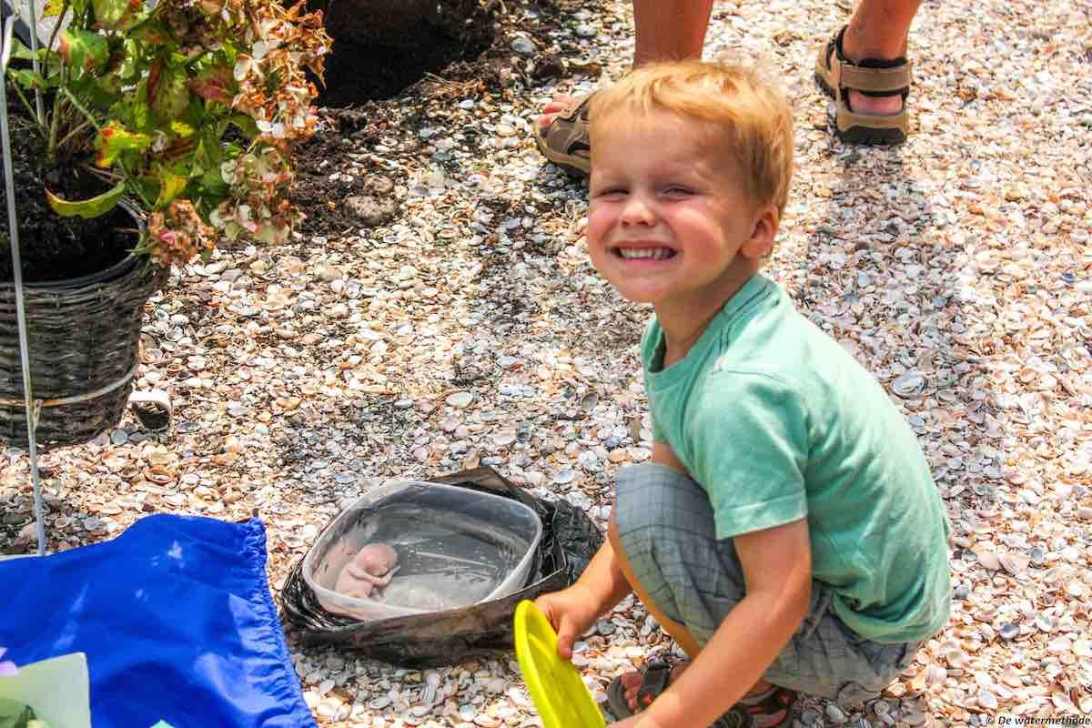 kinderen betrekken bij afscheid na miskraam watermethode