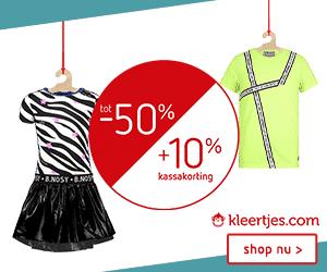 Kleertjes.com korting banner