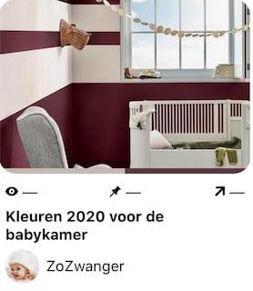 kleur van het jaar 2020 babykamer