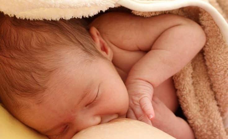 kolven met de hand borstvoeding