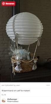 kraammand luchtballon zelf maken