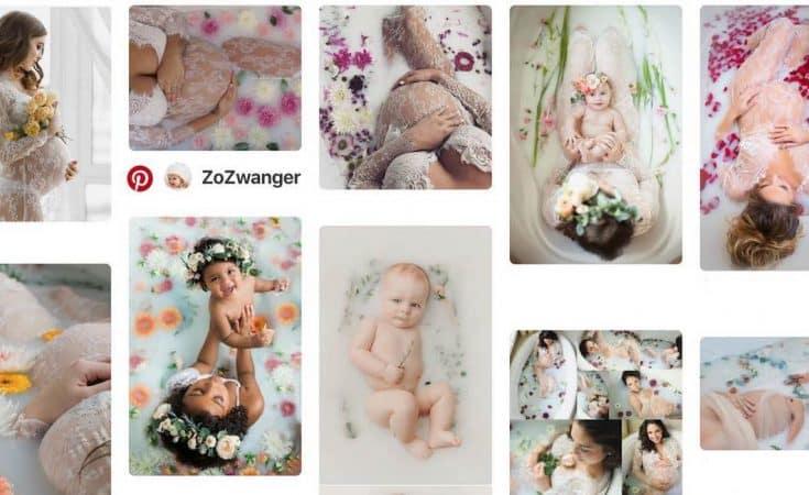 melkbad fotoshoot zwangerschap