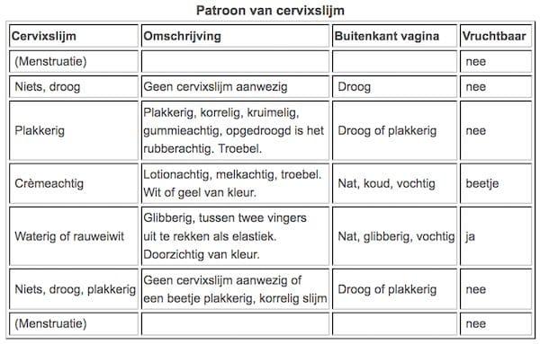 patroon cervixslijm