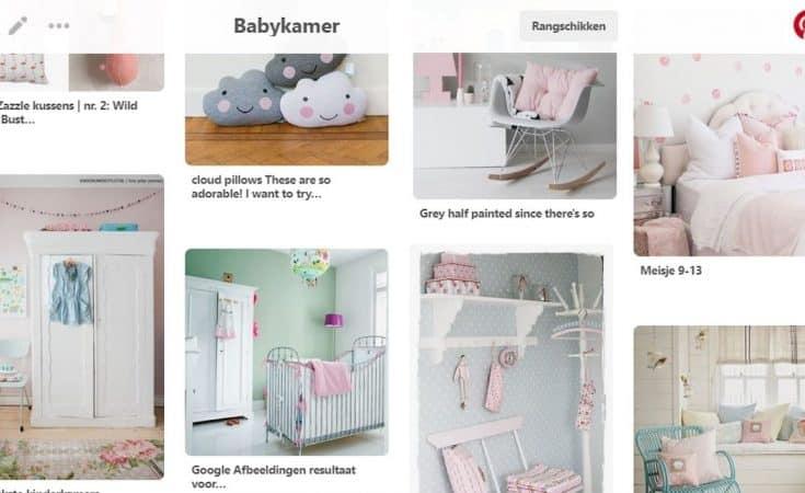 pinterest Roos babykamer inspiratie bord