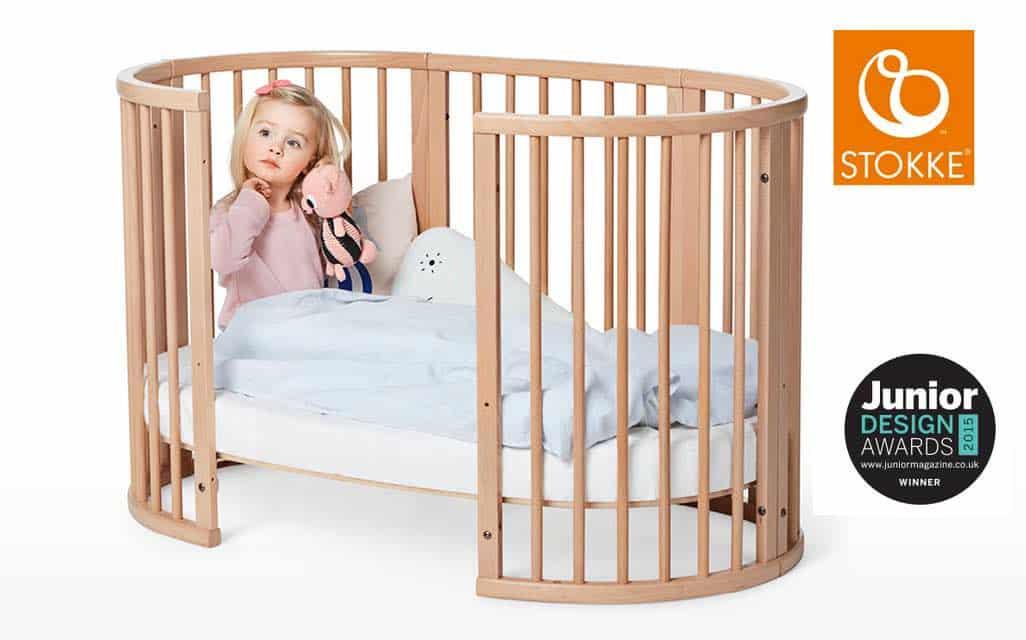 weinig ruimte babykamer stokke sleepi ledikant
