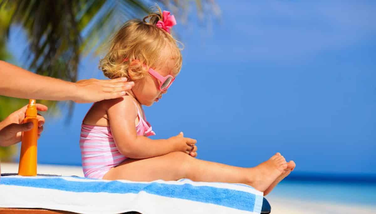 tip dagje strand baby insmeren