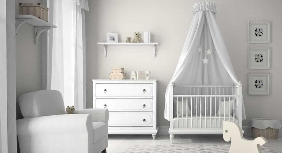 babykamer ledikant baby