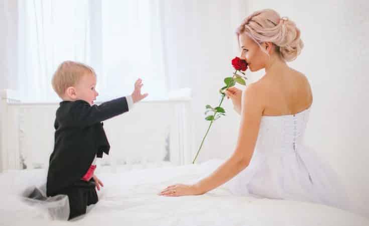 trouwen met baby