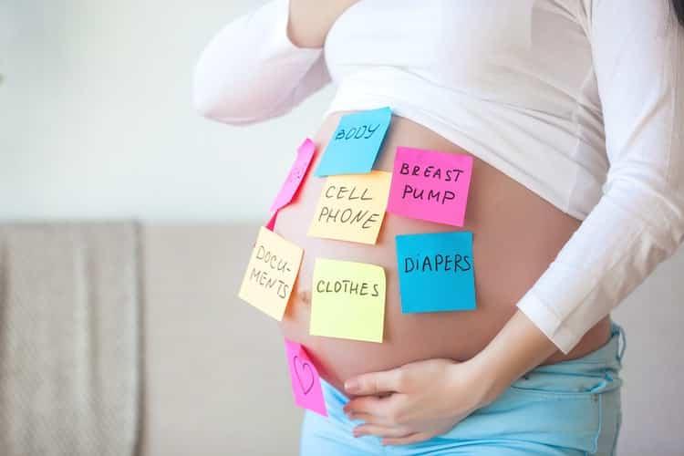vergeetachtig tijdens de zwangerschap