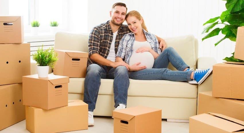 verhuizen tijdens de zwangerschap