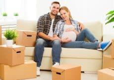 verhuizen vlak voor bevalling