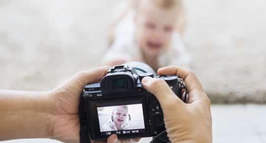 verschillende fotoshoots zwangerschap en baby