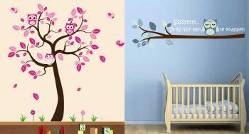 wanddecoratie in de babykamer