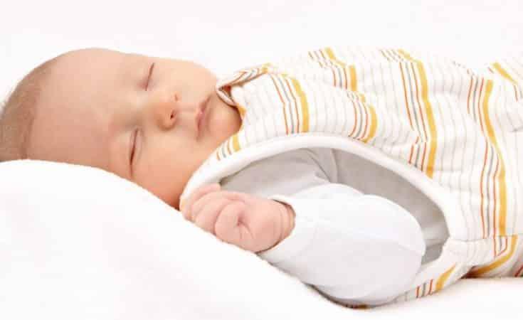 wanneer baby in slaapzak slapen