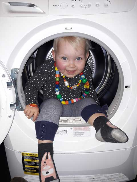 yinthe in de wasmachine