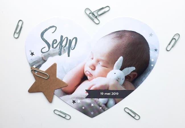 zelf geboortekaartjes ontwerpen