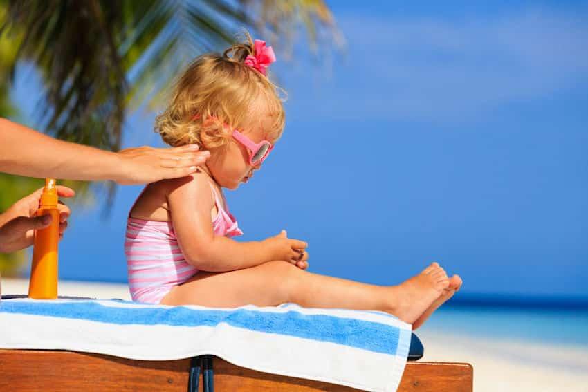 zonnebrand baby gevoelige huid