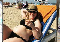 zwanger in de zon