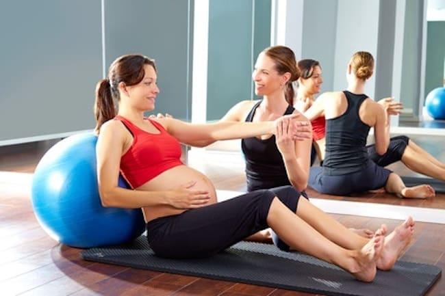Zwangerschapsgym sporten zwanger pilatus