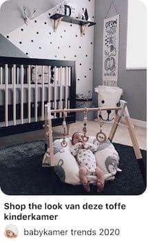 zwarte wit trend babykamer